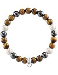 Thomas Sabo X0218-948-2 Bracelet brun gris, blanc