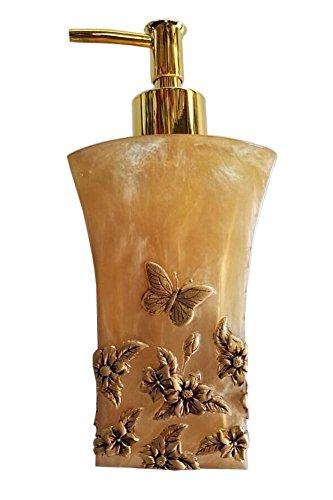 Elégant Bouteille Résine Distributeur de savon Lotion Shampoo Container Papillon