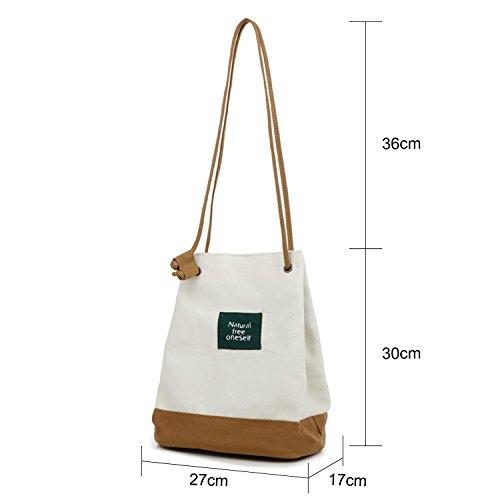 Young & Ming - Schmale Riemen Eimer Tasche Shopper Frauen weibliche frische Handtasche Canvas Umhängetasche Handbag Khaki