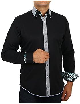 H K Mandel - Camisa casual - con botones - Básico - para hombre