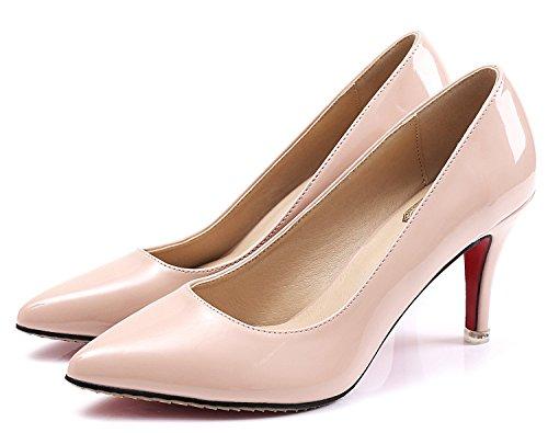 SEXYHER Peinture 2.0 En mariage High Heel Bureau Party Femmes Chaussures-SHOHE 003 ¨¤ 2,0 ABRICOT