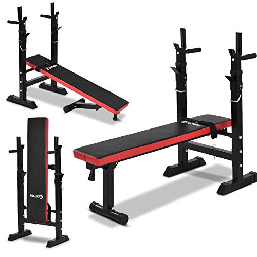 COSTWAY Banco de Pesas Plegable Banco de Entrenamiento para Gimnasio Musculación Ejercicio Fitness