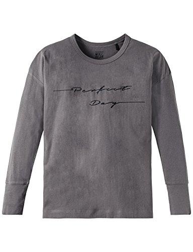 Schiesser Mädchen Schlafanzugoberteil Mix & Relax Shirt 1/1, (Grau 200), 152 (Herstellergröße: S)