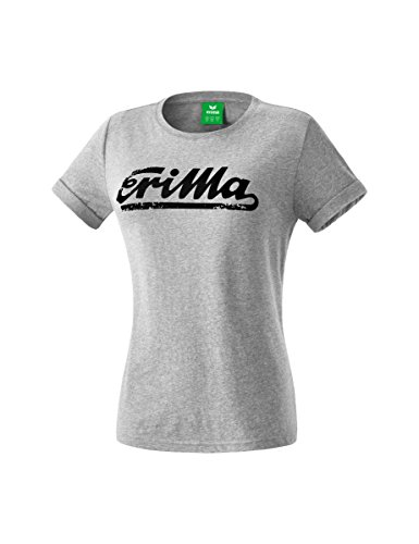 Erima Damen Retro T-Shirt grau melange