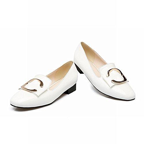 6ce44914fa25 Mee Shoes Damen Slip on Geschlossen vierkant Pumps Weiß ...