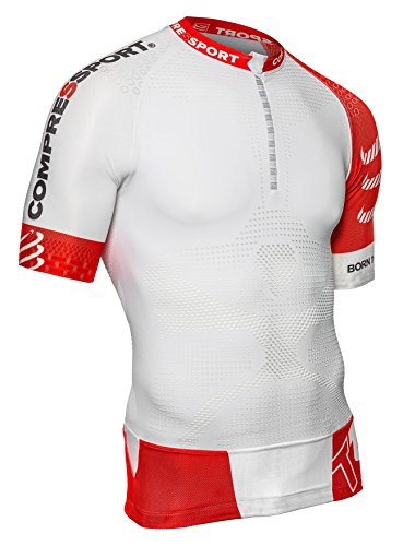 Compressport Trail Run - Camiseta unisex, color blanco, talla S
