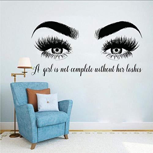 Jxmq adesivi murali personalizzati grandi occhi affascinanti camera da letto famiglia sfondo 56x114cm