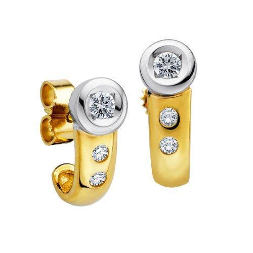 Diamond Line Damen - Ohrstecker 585er Gold 6 Diamanten ca. 0,25 ct., gelbgold Preisvergleich