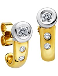 Diamond Line Damen - Ohrstecker 585er Gold 6 Diamanten ca. 0,25 ct., gelbgold