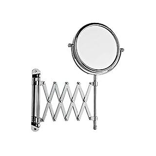 DQMSB Bathroom Wall Mounted Folding Telescopic Mirror Beauty Mirror Hotel Bathroom Vanity Mirror Princess Mirror Amiro Free Punching (Size : 8 inches)