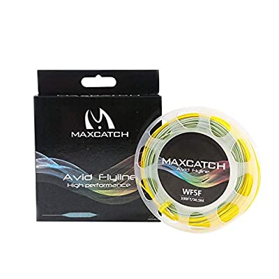 MAXIMUMCATCH Avid Fly Line with Welded Loop, Weight Forward Floating Fly Fishing Line 100ft (3F/4F/5F/6F/7F/8F) by Maximumcatch