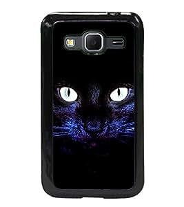 Fuson 2D Printed Cat Designer back case cover for Samsung Galaxy Core Prime - D4508