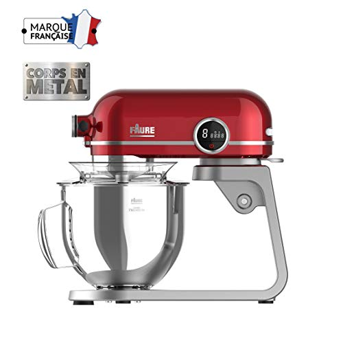 Faure FKM-804MP1 Robot Pâtissier Magic Baker Premiuim - 800W transmission directe -Mouvement...