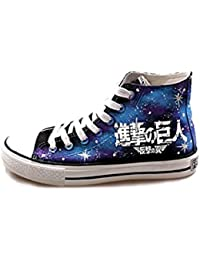 jeylu Attack on Titan Logo de anime cosplay Zapatos Azul Lienzo Zapatos luminoso versión adulto, color Azul, talla 26 cm