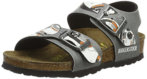 Birkenstock New York, Bride cheville garçon Mehrfarbig (Star Wars Bb-8 Gray)