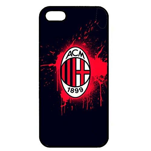 Associazione Calcio Milan Logo Phone Case Black Hard Plastic Case Cover For Iphone 5/5S Color4678