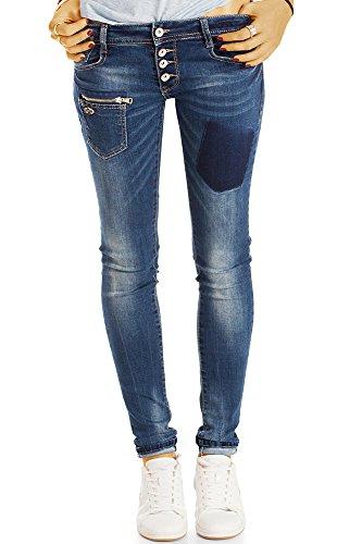 Bestyledberlin Damen Jeans, Enge Hüftjeans Used Look, Skinnyjeans j37k 36/S