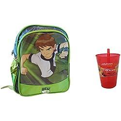 CSM Ben 10 Bag With Freebie Straw Glass