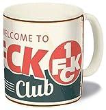1. FC Kaiserslautern Tasse, Kaffeetasse, Becher Retro FCK - Plus Lesezeichen I Love Kaiserslautern