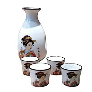 Sake Set - Japanese Ladies