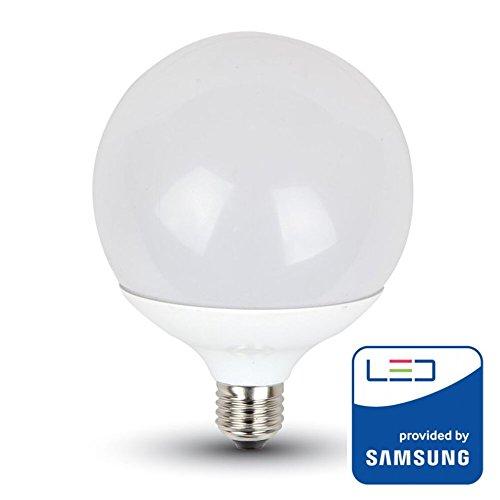 V-TAC Bombilla LED 17 W, Globo G120 Chip Samsung Pro Casquillo E27, 40