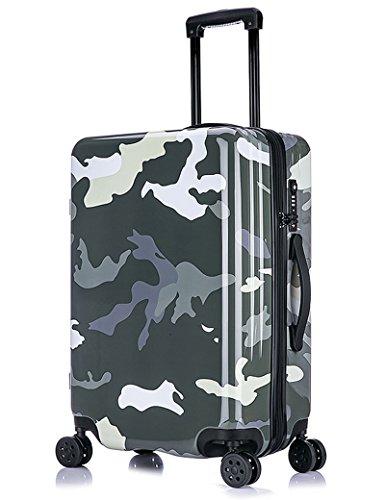 ABS + PC Aluminiumlegierung Stange Gepäck Tasche 360 ° Stumm Universal - Runde Gepäck Taschen Passwort Gepäck ( Farbe : 1 , größe : 24 inch ) 5