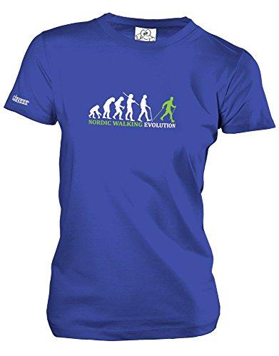 NORDIC WALKING EVOLUTION - Royalblau - WOMEN T-SHIRT by Jayess Gr. XL