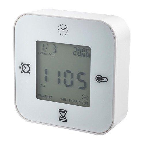 Ikea Klockis Clock/thermometer/alarm/timer, Whi