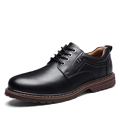 YIJIAN-SHOES Herren Oxford Schuhe Herren Stilvolle Bequeme Mode Freizeit Oxford Lässig Einfach Jugendlich Stil Mit Niedriger Spitze Schnüren Formelle Schuhe Kleid Oxford Schuhe