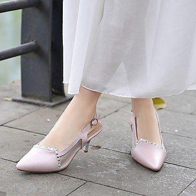 Talloni delle donne Primavera Estate Autunno Altro similpelle ufficio & carriera di feste ed abito da sera tacco a spillo glitter scintillanti Blu Rosa Bianco Blue