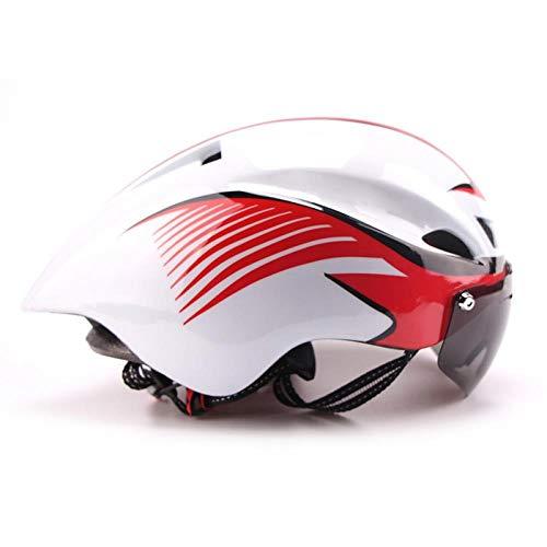 LIUDATOU Fahrradhelm Road Tt Bull Trial Triathlon Xc Fahrrad Fast Aero Racing Helm Magnetische Absorptionsbrille Visier, Farbe 4