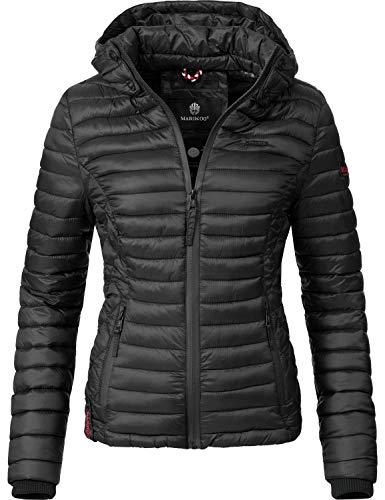 Marikoo Damen Übergangs-Jacke Steppjacke Samtpfote Schwarz Gr. M (Gesteppte Jacke Frauen Schwarz)
