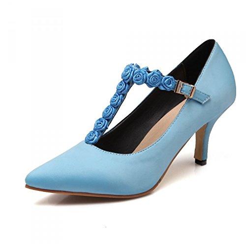 zz&Y Eleganti e comode scarpe fare clic su alta scarpe tacco scarpe da lavoro,Blue,39