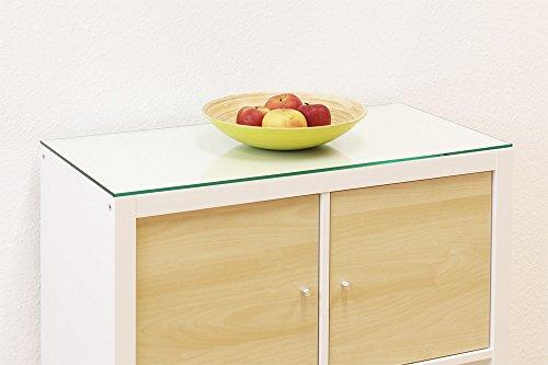 New Swedish Design IKEA Kallax Regal Glasplatte 76 x 39 cm Regalplatte aus Glas Auflageplatte aus Sicherheitsglas (6 mm ESG-Glas) leicht zu reinigen abwaschbar stabil schonend und schützend 76 Gläser
