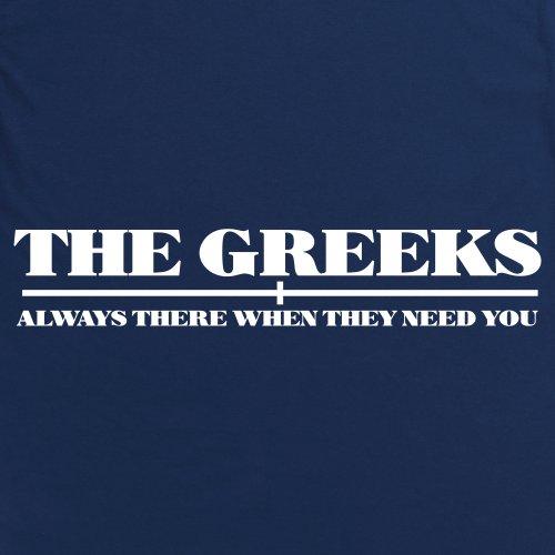 Square Mile Greeks T-Shirt, Herren Dunkelblau