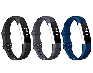 Spezielles Design für Fitbit Alta HR, Benestellar Klassisch Ersatz Armband für Alta HR und Alta Mit Metallschließe (3 Pack 1, Small (6.2