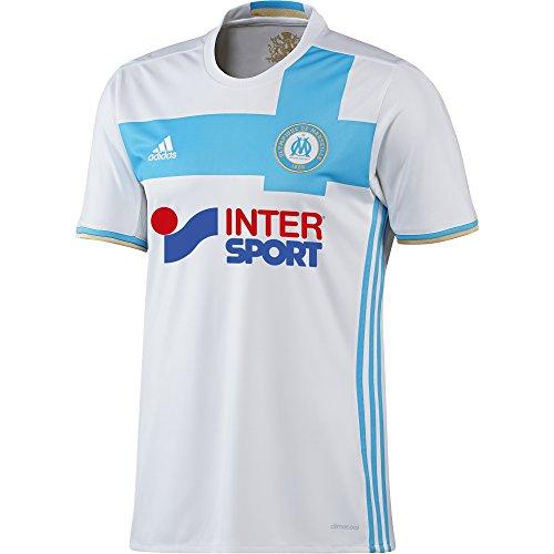 adidas Herren Olympique Marseille Heim Replica Trikot, White/Om Blue/Light Football Gold, L (Marseille Trikot Fussball)