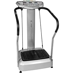 """MOVIT vibrating plate """"Vitality Fit Vibration 2.0"""" Vibraplate with BMI measurement incl. 2 fitness straps for effective total body training, vibration trainer with 4 programs"""