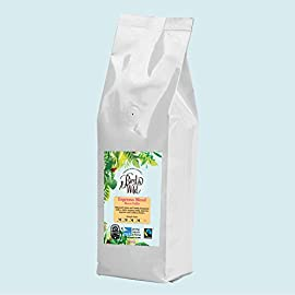 Bird and Wild Medium Dark Espresso Roast Coffee Beans – 500 Grams – Fairtrade, Organic, Vegan and Bird Friendly…