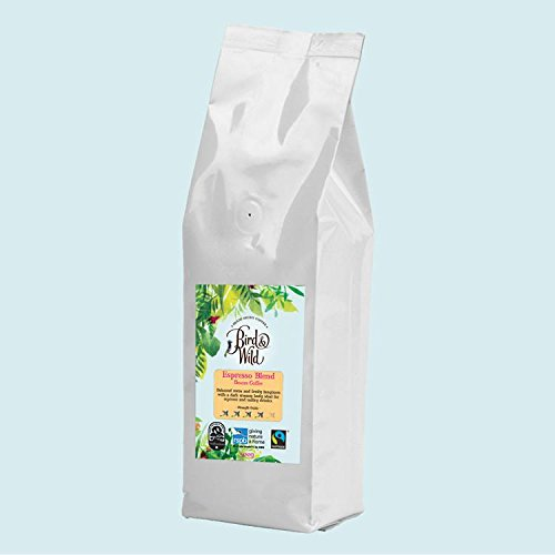 Bird & Wild RSPB Coffee, Signature Espresso Blend, Fairtrade Organic Shade Grown Bird Friendly Coffee, 6% of Sales Donated to RSPB, Whole Bean Coffee, 500g net weight 41JwzhFptnL