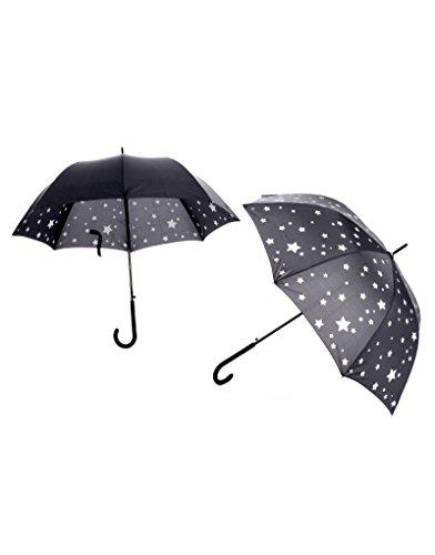 Hogar y Mas Paraguas Estrellas Dos Modelos - Negro