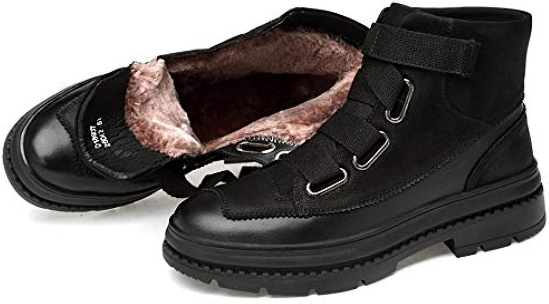XHD-scarpe, Stivali Stivali Stivali Uomo, Nero (Warm nero), 40 | Acquista  8e1a88