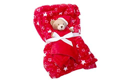 Luxuriös weiche Premium Fleece-Babydecke & Tröster, warmes und gemütliches Design, perfekt für den täglichen Gebrauch: Kinderbett, Autositz, Reisen usw. Das perfekte Geschenk, Teddybär