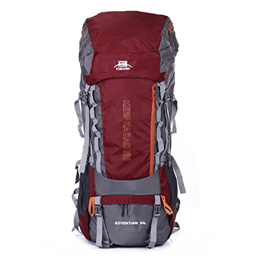 Mooedcoe 95L Large Trekking Rucksack Mens Waterproof Outdoor Hiking Camping Internal Frame Backpack