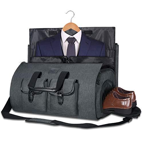 Uniquebella Anzugtasche, Kleidersack Reisetasche Anzugsack Umhängetasche für Herren,Flugzeug, Reisen, Bussiness,Fitness Anzug Garment Gym Bag, Sporttasche für Männer (Schwarz 2)