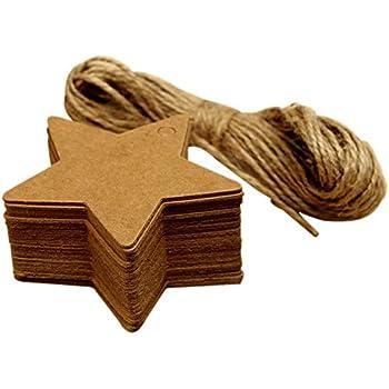 Wicemoon Coiled Corde de jute Lot de 100//étiquettes cadeau d/écoratifs Cartes de f/ête /étiquette pour bagage D/écoration de anniversaire de mariage