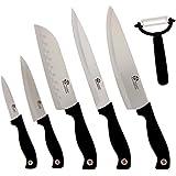 Pradel Excellence CI006E  Coffret de 5 Couteaux Cuisine et 1 Eplucheur 36.20x 21.5 x 3.5 cm Argent/Noir
