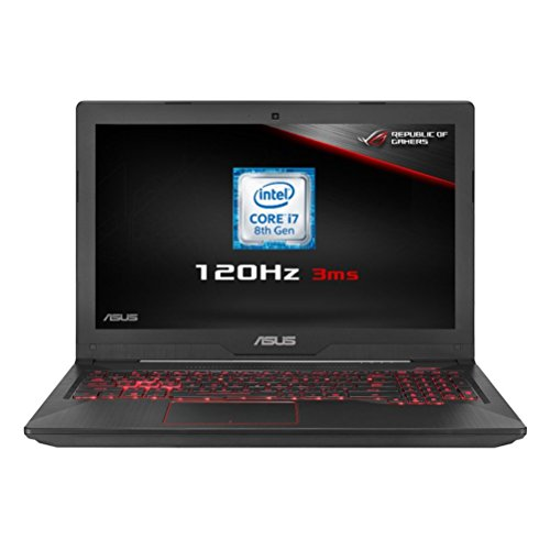 ASUS FX504GM-EN150T 15.6 Inch 120 Hz Full HD Wide-View Laptop (Metal) - (Intel Core i7-8750H, 8 GB RAM, 1 TB HDD + 256 GB SSD, Nvidia GTX1060 6 GB Graphics, Windows 10)