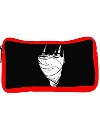 Snoogg Eco Friendly Canvas Girl Hair Blown By The Wind Black Designer Student Pen Pencil Case Coin Purse Pouch...