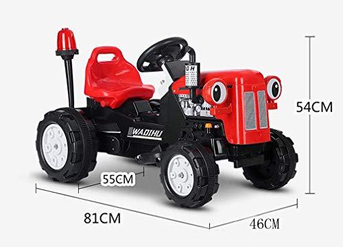 Jeffee Kinder elektrische Fernbedienung Traktor kann die Technik Auto Baby Spielzeugauto Kinderwagen 1-7 Jahre dauern,Red